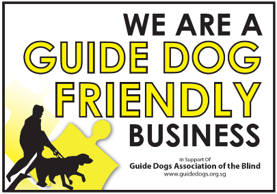 Guide Dog Friendly Decal for Singapore Businesses