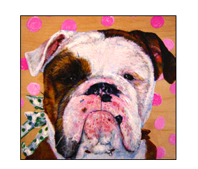 Bull dog painting @ www.epetportraits.com/